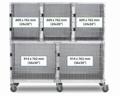 6' Assembly, Stainless Steel Cage Option A