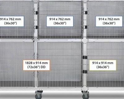 9' Assembly, Stainless Steel Cage Option A