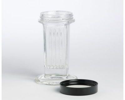 COPLIN JAR (GLASS) + PLASTIC LID