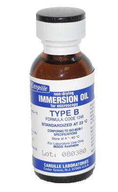 MICROSCOPE IMMERSION OIL 480ML