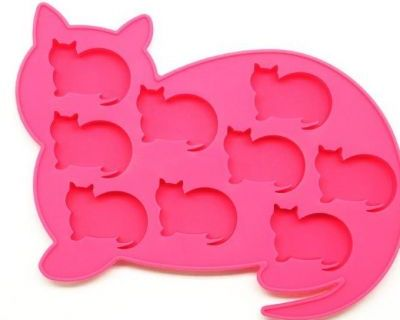 Oralade Silicone  Ice Cube Tray - Cat Pink