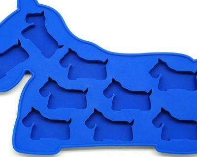Oralade Silicone  Ice Cube Tray - Dog Blue